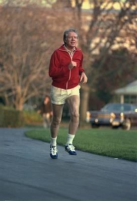 President Jimmy Carter Jogging. Nov. 20 Art Print by Everett
