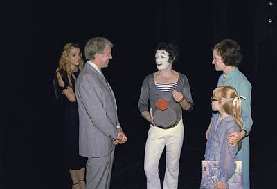 Marcel Marceau Photograph - President Jimmy Carter Rosalynn Carter by Everett