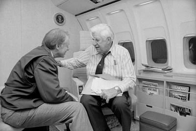 President Jimmy Carter Talking Art Print by Everett