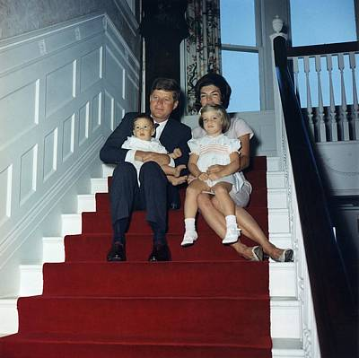 President John Kennedy And His Family Art Print