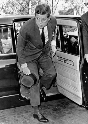 President John Kennedy Steps Print by Everett
