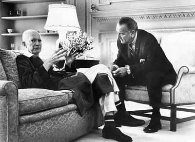Lyndon Photograph - President Johnson Visits Former by Everett