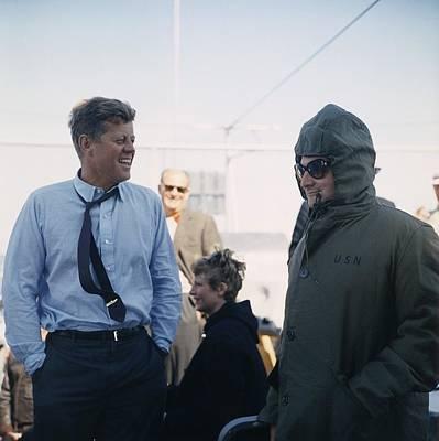 President Kennedy Stands Art Print by Everett