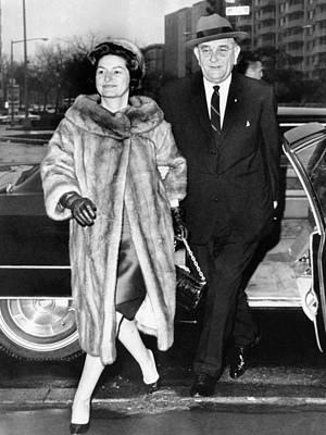 President Lyndon And Lady Bird Johnson Print by Everett