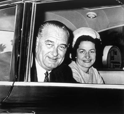 Lyndon Photograph - President Lyndon B. Johnson And First by Everett