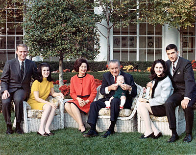 President Lyndon B.johnson, Posing Art Print