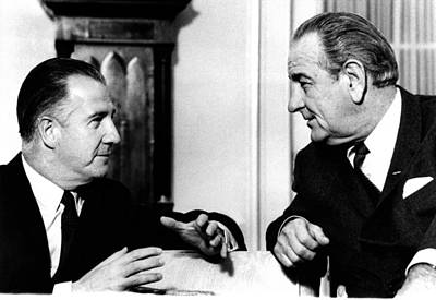 Lyndon Photograph - President Lyndon Johnson And Vice by Everett