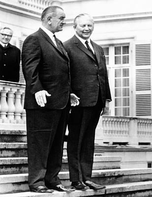 Lyndon Photograph - President Lyndon Johnson And West by Everett