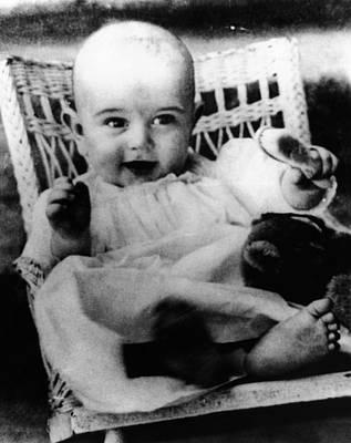 Lyndon Photograph - President Lyndon Johnson At 6 Months by Everett