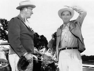 President Lyndon Johnson Entertains Art Print by Everett