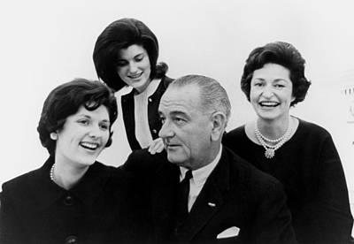 President Lyndon Johnson Family Art Print by Everett