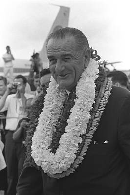 Lyndon Photograph - President Lyndon Johnson In Hawaii. He by Everett