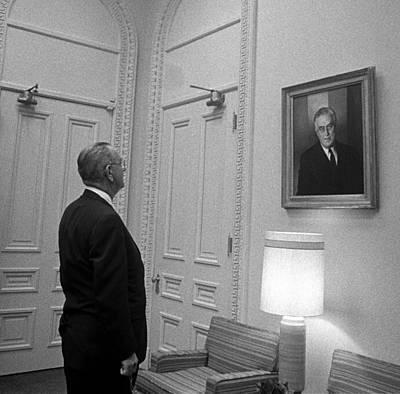Lyndon Photograph - President Lyndon Johnson Looking by Everett