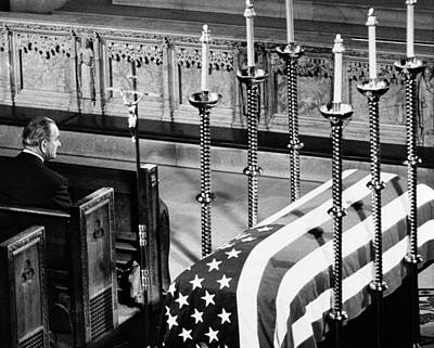 Lyndon Photograph - President Lyndon Johnson Sits Next by Everett