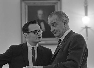 President Lyndon Johnson, Talking Print by Everett