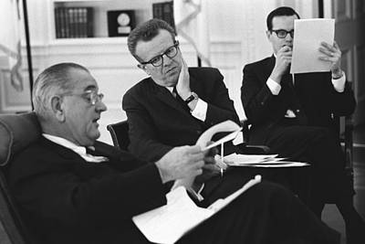 Lyndon Photograph - President Lyndon Johnson With Political by Everett