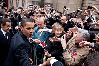 President Obama And French President Print by Everett