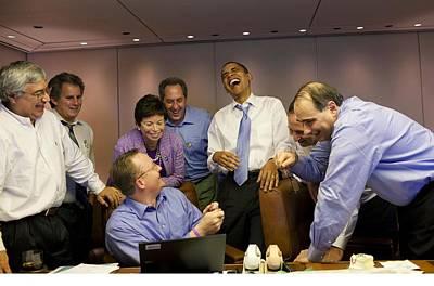 President Obama And His White House Art Print