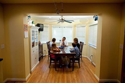Obama Family Photograph - President Obama At The Dining Room by Everett