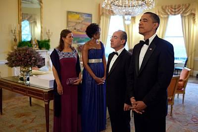 President Obama President Felipe Print by Everett
