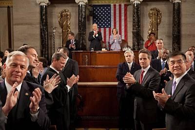 President Obamas View As He Entered Art Print by Everett