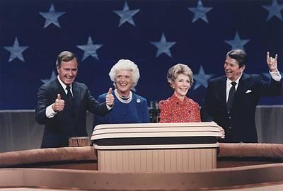 President Reagan Nancy Reagan Art Print by Everett