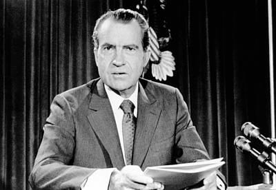 President Richard Nixon Announced Art Print by Everett