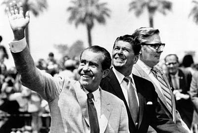 Rs2wn Photograph - President Richard Nixon, Gov. Ronald by Everett