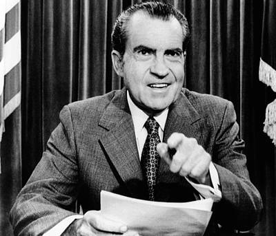 President Richard Nixon Presents A New Art Print by Everett