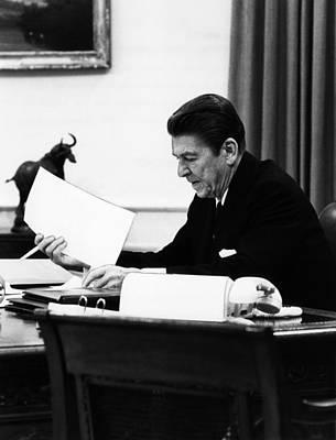 1980s Portraits Photograph - President, Ronald Reagan 1911-2004 by Everett