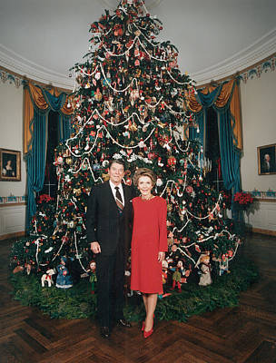 President Ronald Reagan, First Lady Art Print by Everett