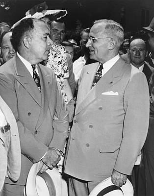 President Truman And James Pendergast Art Print by Everett