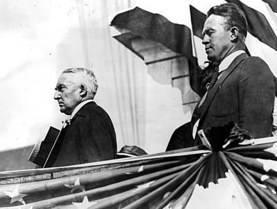 President Warren G. Harding Speaking Print by Everett