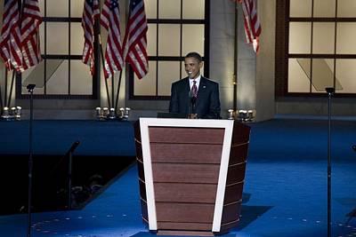 Presidential Candidate Barack Obama Art Print by Everett