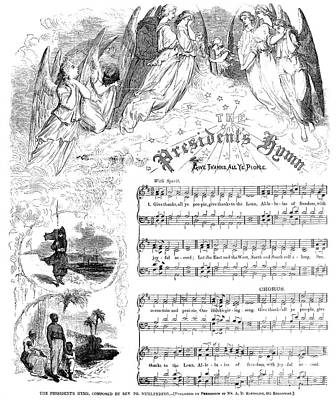 Photograph - Presidents Hymn, 1863 by Granger