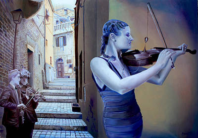 Staircase Painting - Presque Vu by Alessandro Fantini