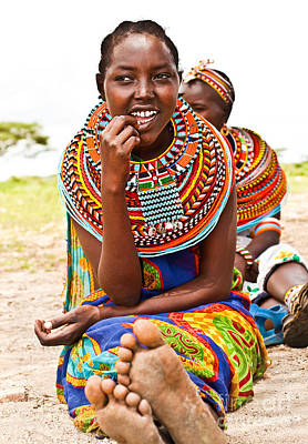 Photograph - Pretty African Teen by Anna Om