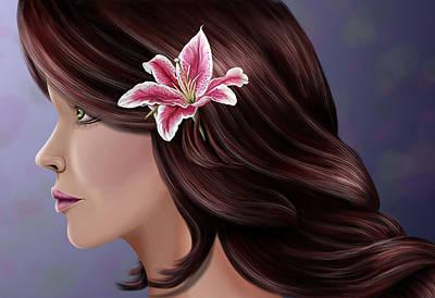 Digital Art - Pretty As A Lilly by Karla White