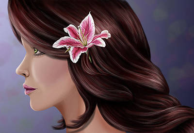 Pretty As A Lilly Art Print