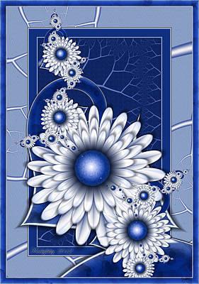 Digital Art - Pretty Blue Eyes by Karla White