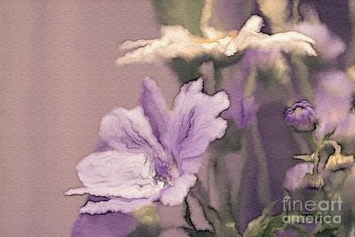 Lavender Digital Art - Pretty Bouquet - A05t01 by Variance Collections