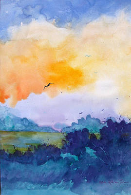 Puerto Rico Painting - Pretty Dawn by Estela Robles