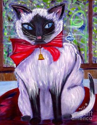 Pretty Fat Cat Art Print by Phyllis Kaltenbach