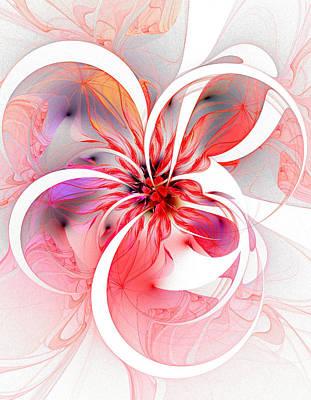 Framed Art Digital Art - Pretty In Pink by Amanda Moore