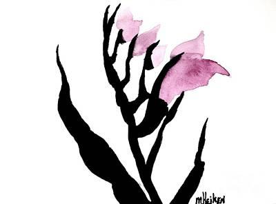 Pretty In Pink Gladiolus Art Print by Marsha Heiken