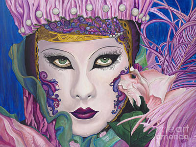 Mardi Gras Painting - Pretty In Pink by Patty Vicknair