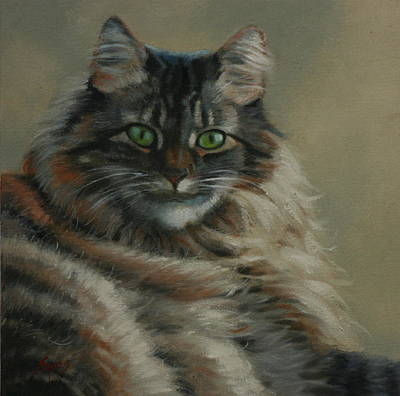 Pretty Kitty Art Print by Linda Eades Blackburn