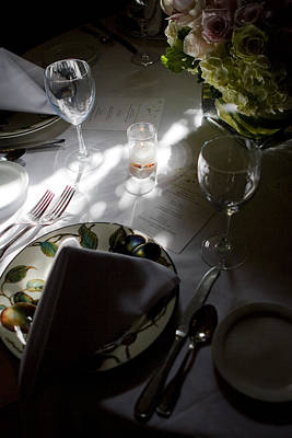 Photograph - Pretty Place Setting by Lorraine Devon Wilke