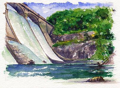 Painting - Prettyboy Dam by John D Benson