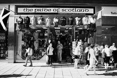 Pride Of Scotland Scottish Gifts Shop Princes Street Edinburgh Scotland Uk United Kingdom Art Print by Joe Fox
